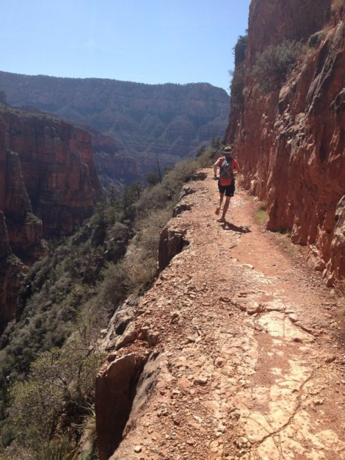 Lewis Taylor descending North Kaibab. Photo by Keith Yanov.