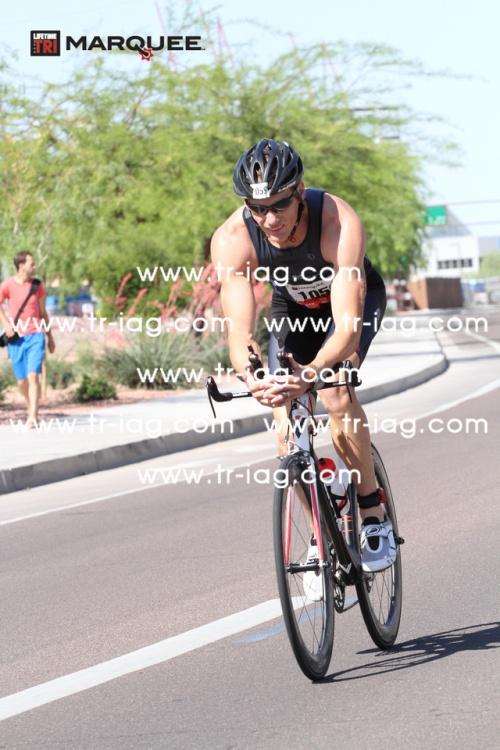 Just starting the bike. Heading west on Rio Salado. Courtesy www.tri-iag.com